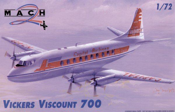 Mach 2 1 72 Vickers Viscount 700  7246