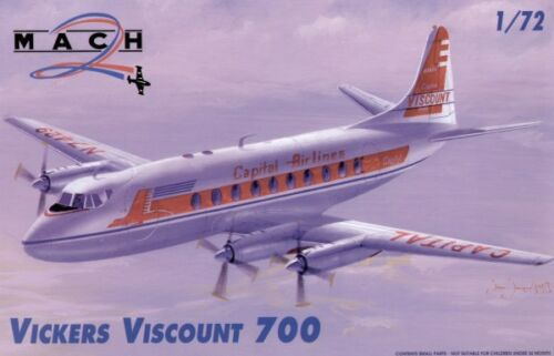Mach 2 1//72 Vickers Viscount 700 # 7246