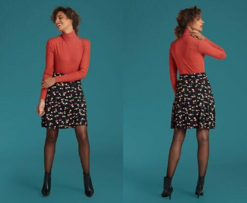 King Louie Rock schwarz Kirsche Border Skirt Cherry Pie XL 42 black cherry 03292