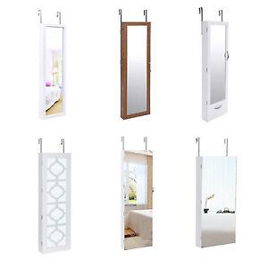 Portagioie con specchio armadio organizzatore con specchio da appendere a porta ebay - Specchio da porta ...