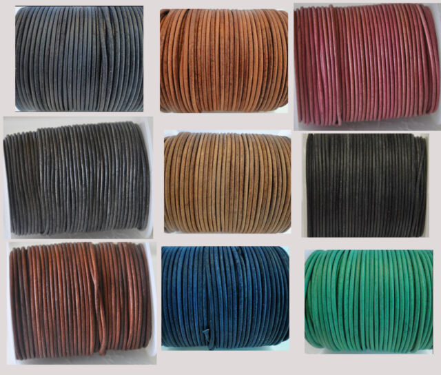 100/% Real Genuine Leather DIY Jewelry Making Cord String Thread 1//1.5//2//3//4//5mm