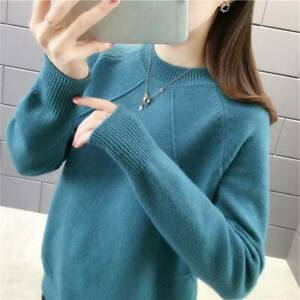 Women/'s Turtleneck Slim Knitted Cashmere Jumper Pullover Elasticity cozy Sweater