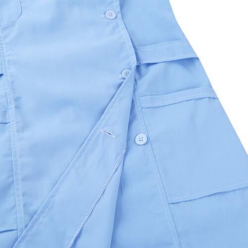 Women Nurse Uniform Dress Female Doctor Hospital Scrub Lab Long Coat Work Coat