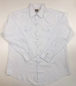 Ely White Snap Front Dress Shirt