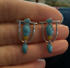 Lady-925-Silver-Turquoise-Hoop-Dangle-Earrings-Wedding-Birthday-Fashion-Gift thumbnail 13