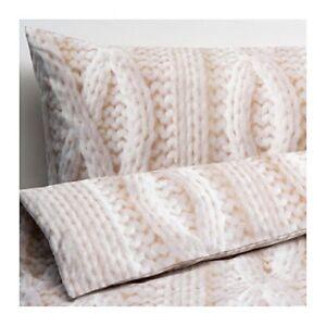 Funda de Almohada única BN Ikea raglosta 100/% De Algodón Cubierta Edredón Efecto De Punto Grueso