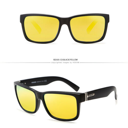 Sports Drive Square Polarized UV Protection Sunglasses for Women Men With Box