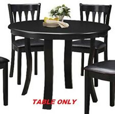 Round Dining Table Kitchen Room Black Modern Pedestal Breakfast Dinner Dinette