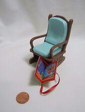 New FISHER PRICE Loving Family Dollhouse BLUE ROCKING CHAIR GLIDER Baby Nursery