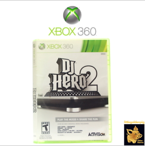DJ-Hero-2-2010-Activision-Xbox-360-Game-Case-Manual-Disc-Tested-Works-A