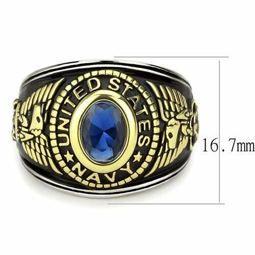 Details about  /United States Navy Military Stainless Steel Unisex Blue Montana Ring Size 6
