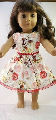 "Pink Print Sleeveless Dress Fits 18/"" American Girl  Dolls"