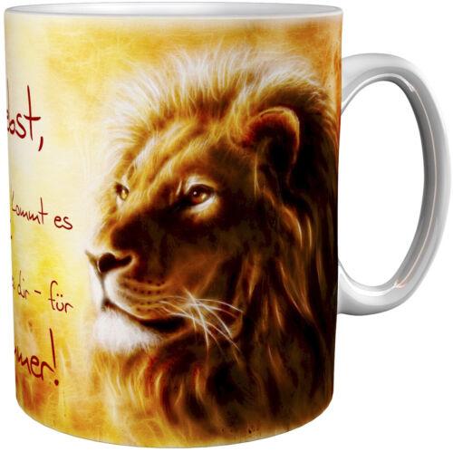 Kaffeepott metALUm Kaffeebecher Kaffeetasse Löwen 0006