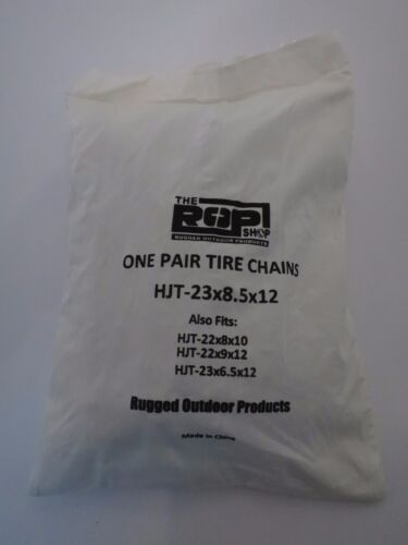 PAIR 2 Link TIRE CHAINS 23x8.50x12 for Toro Wheel Horse Lawn Mower Tractor Rider