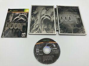 Microsoft-OG-Xbox-Tested-Complete-CIB-Doom-3-Limited-Steelbook-Edition