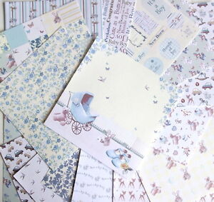 16-SHEETS-6x6-034-SCRAPBOOK-PAPER-IT-039-S-A-BOY-by-First-Edition-PAPERS-baby