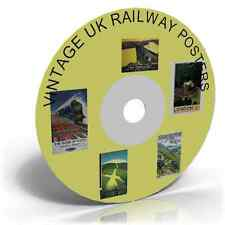 Vintage UK Railway Posters - Art & Craft CD, Historic trains picture collection