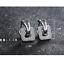 Indexbild 8 - Klapp-Creolen-Doppelreihen-echt-Sterling-Silber-925-Damen-Kreolen-Ohrringe