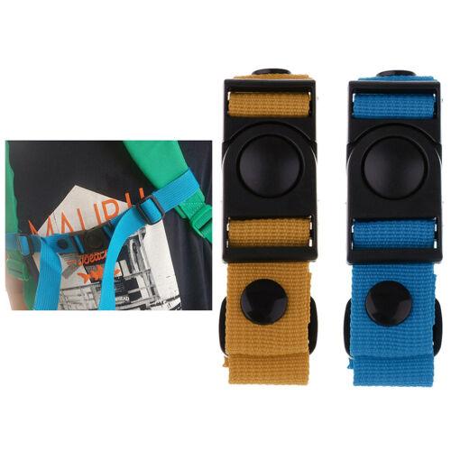 2 x Verstellbarer Rucksack Brustgurt Nylon Gurtband mit Schnalle