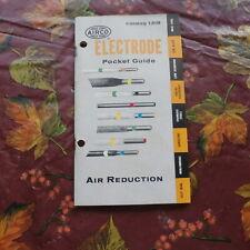 1957 Airco Electrode Pocket Guide Catalog 1318 Lk