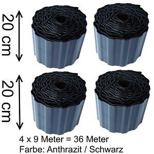 Rasenkante Beeteinfassung 0,61€/m  schwarz Rasenbegrenzung Raseneinfassung Rand