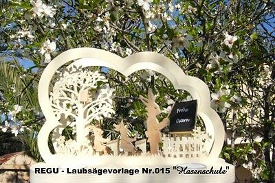 """Diszipliniert Osterbogen """"hasenschule"""" Sehr Schöne Vorlage Regu Laubsägevorlage Nr.015"""
