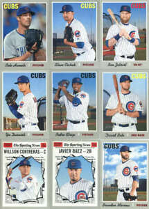2019 Topps Heritage Baseball Chicago Cubs Team Set of 17 Cards (No SPs)