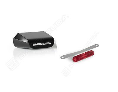 Premuroso Barracuda Kit Luce Targa Led Alluminio + Catadiottro Omologati Per Moto Buell Elaborato Finemente