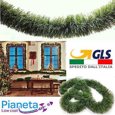 Abile Ghirlanda Filo Verde Natalizia Addobbi Albero Natale 8 10 12 15 Cm X 270 Cm Luminoso A Colori