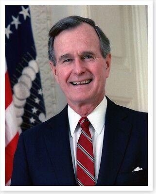 W Bush 1989 Official Portrait 8 x 10 Silver Halide Photo President George H
