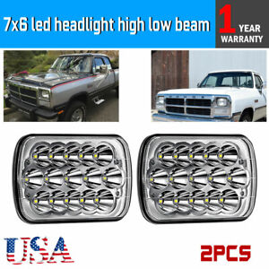 Details About Pair 90w Led Clear Sealed Beam 7x6 5x7 Headlights 90 97 For Nissan Pickup 240sx