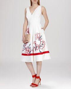 Uk Millen Karen Appliqué 14 Beautiful Ivory Dress xg018wwqT