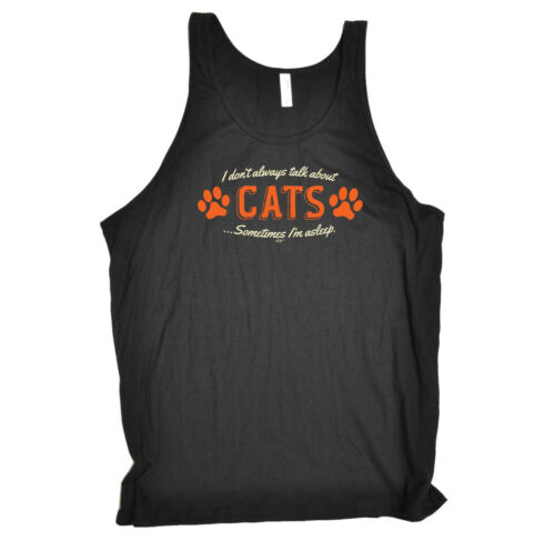 wholesale Funny Novelty Vest Singlet Top - Talk About Cats free shipping
