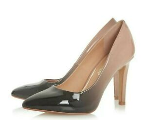 a921306ee1096 Dune Head Over Heels Alexxa Stiletto Court Shoes Black/Nude Women's ...