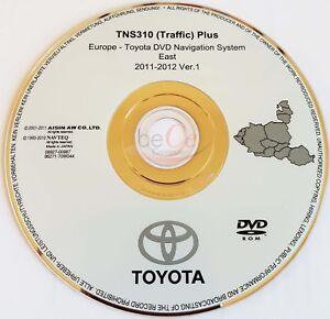 Toyota-Lexus-Navigation-ORIGINAL-DVD-TNS310-2011-2012-Ost-Europa-East-Europe