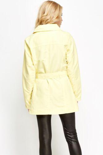 UK Womens PRIMARK Trench Coat Ladies Mac Belted Cuffs /& Waist Lightweight *LICK*