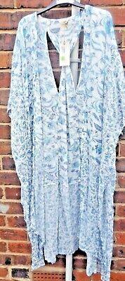 100% Wahr M&s Indigo Range, Blue Floral Modal Kimono Boho/ Beach Size 12 Bnwt Angenehm Zu Schmecken