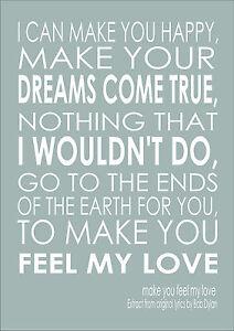 Make you feel my love bob dylan lyrics original