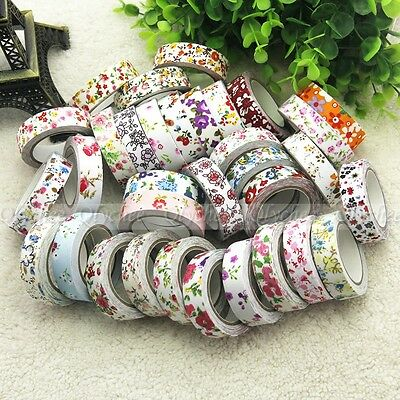 New Floral Fabric Tape Washi Masking Tape Decorative Tape DIY Tape Stickers