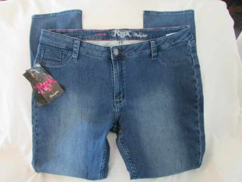 taille 47 rock 34x31 Jeans jambe taille basse Bleu étroite Mesdames UzAXw8q