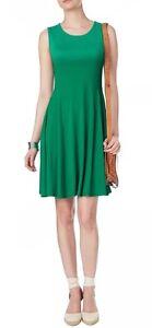BNWTphase-Eight-8-Green-Rose-Swing-Jersey-Dress-Size-10