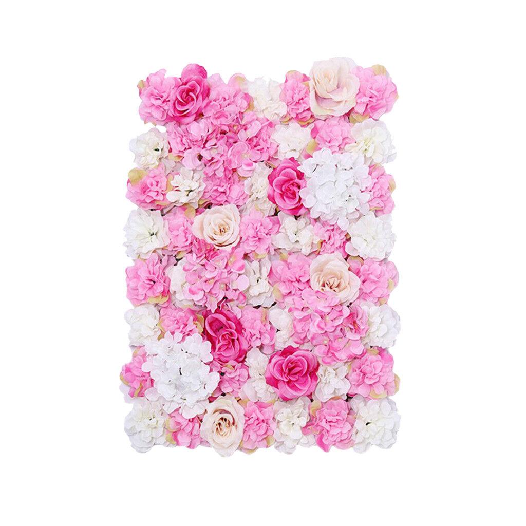 8pcs Simulation Fleur Mur Panneaux route principale pilier Mariage Décor Rose Chaud
