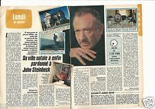 Coupure de presse Clipping 1986 John Steinbeck   (2 pages)