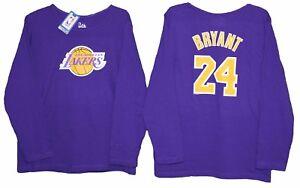 Kobe BRYANT LA LAKERS PURPLE long sleeve 2 Sided SHIRT Womens 1X 2X ... fe21dba51be3
