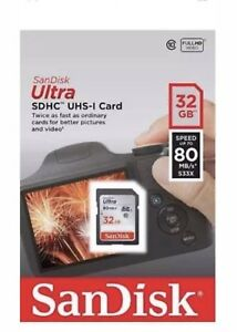 SanDisk-32GB-Ultra-SDHC-SD-Card-Class-10-UHS-I-Memory-Card-80MB-S-For-Camera-New
