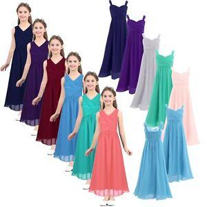 Girls-Kids-Chiffon-Flower-Girl-Dress-Princess-Pageant-Wedding-Bridesmaid-Dresses