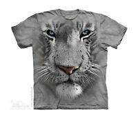 New WHITE TIGER FACE Youth T Shirt