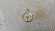 Natural Gold Nuggets Encased 14K Yellow Gold Frame Charm Pendant 1.0 grams