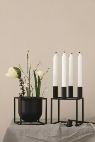by Lassen Blumentopf Flowerpot Kubus Schwarz 14cm