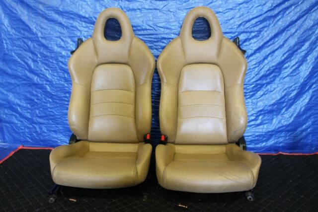 2004 2005 Honda S2000 F22 C Ap2 Oem Tan Leather Front Seats Assy #3227 by Ebay Seller